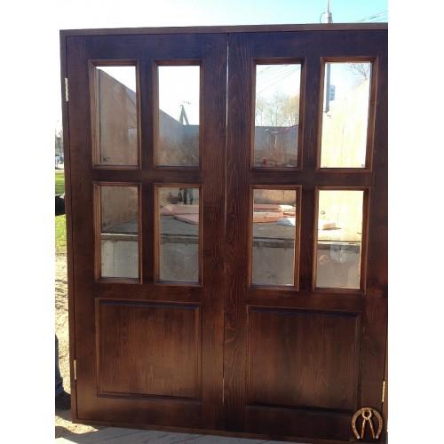Полотна дверей из массива со стеклом
