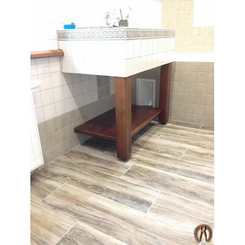 Декор под раковину в ванную комнату