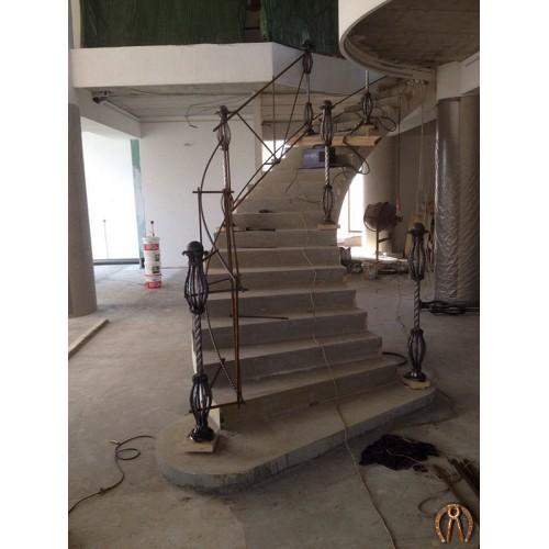 Монолитная лестница Кунгур 3