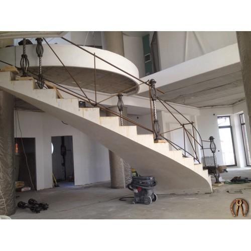 Монолитная лестница Кунгур 1