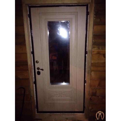 Стальная дверь со стеклопакетом вид 2