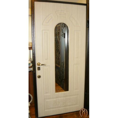 Элитная стальная дверь с зеркалом