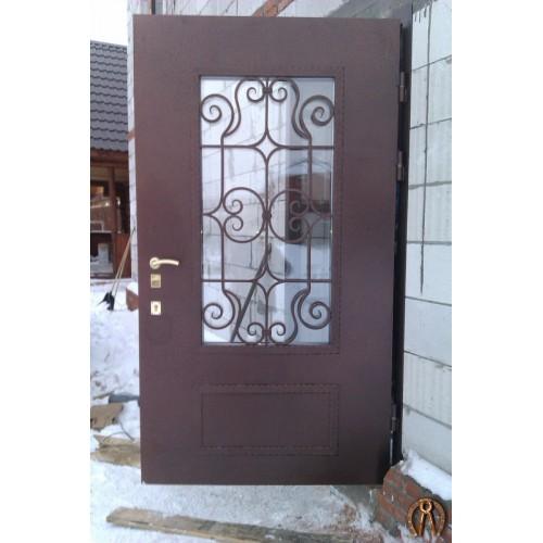 Стальные двери со стеклопакетом под заказ
