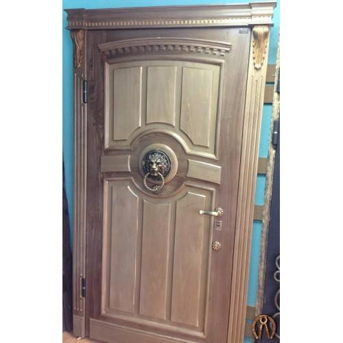 Стальные двери с накладками из массива под заказ