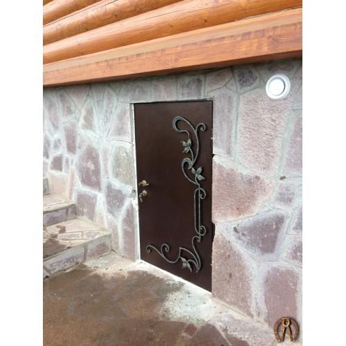 Стальная двери с ковкой по размерам заказчика