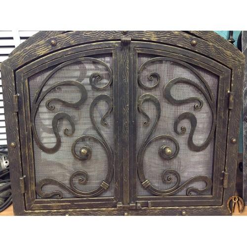 Дверцы для камина с сеткой