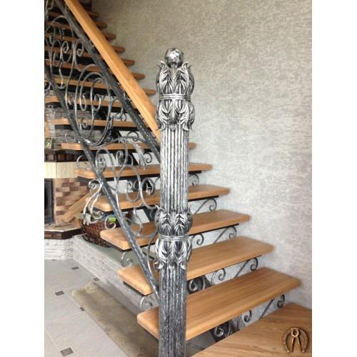 Перила для лестницы кованые Протасы