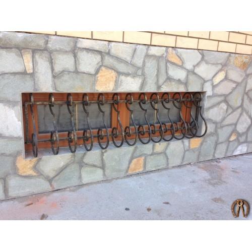 Кованая решетка в цоколь Курья