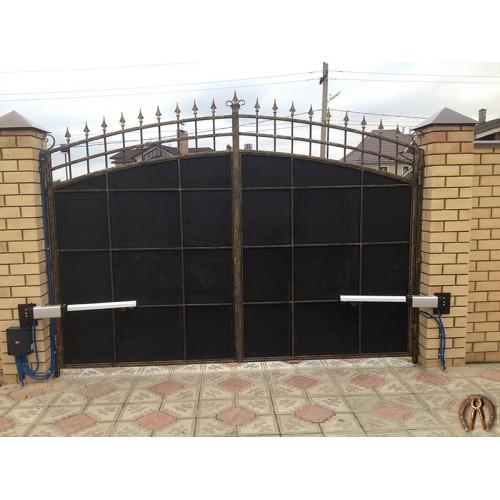 Ворота распашные с автоматикой под ключ