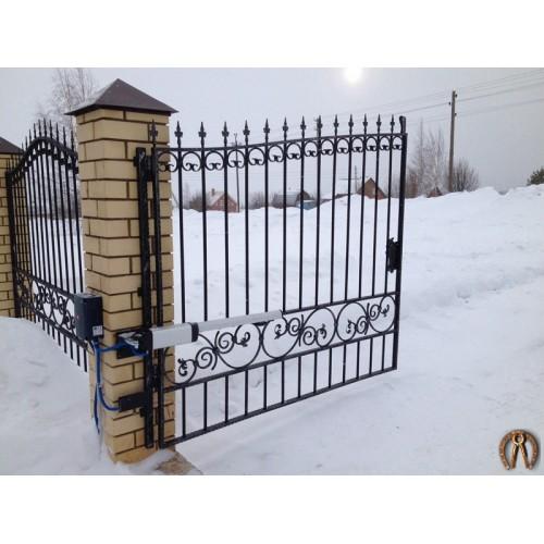 Кованые ворота с автоматикой. Протасы