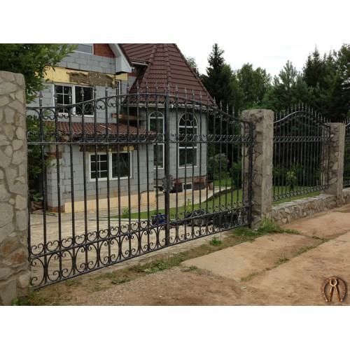 Кованые ворота. Пальники