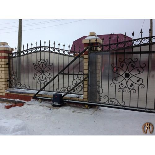 Кованые откатные ворота с автоматикой. Ильинский